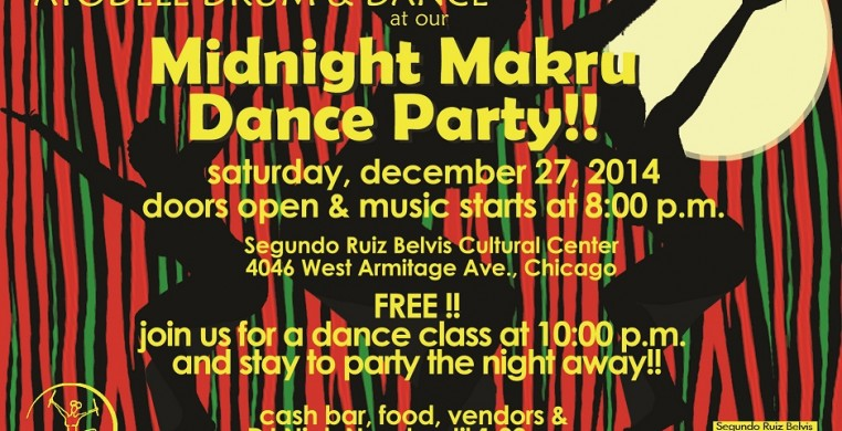 Join Ayodele for a Midnight Makru Dance Party on December 27, 2014