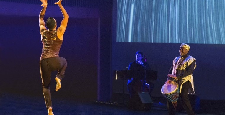 Dancer Fernando Rodriguez and musicians Tim Archbold & Paul Cotton perform ROOT by Monique Haley & Joe Cerqua