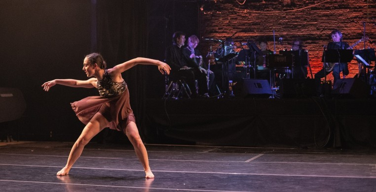 Dancer Kristen Vasilakos and the CRDT Jazz Band perform ROOT by Monique Haley & Joe Cerqua