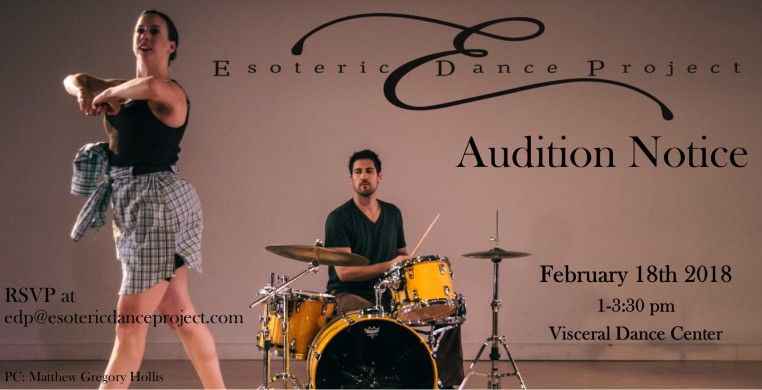 Esoteric Dance Project Audition February 18th