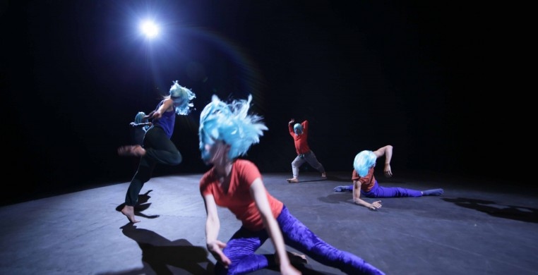 Charles Atlas / Rashaun Mitchell / Silas Riener, Tesseract.  Pictured: Melissa Toogood, Cori Kresge, Silas Riener, and Rashaun Mitchell Photo: Courtesy of EMPAC