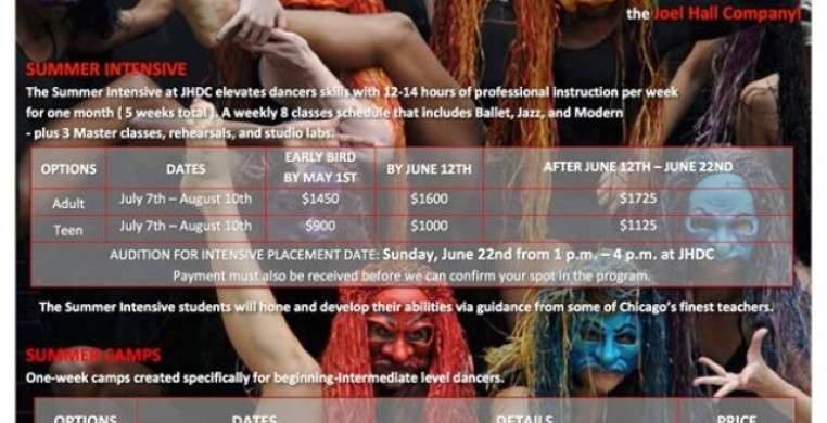 Dance camp, 7/7-7/11