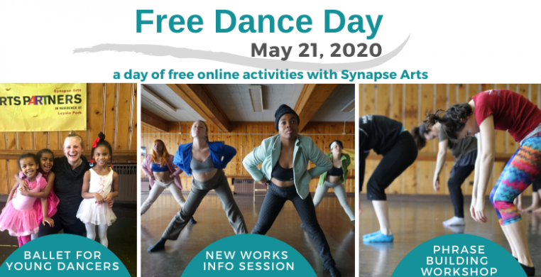 Synapse Arts Free Dance Day May 21 banner
