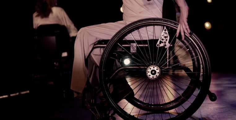 Wheelchair dancer on stage.