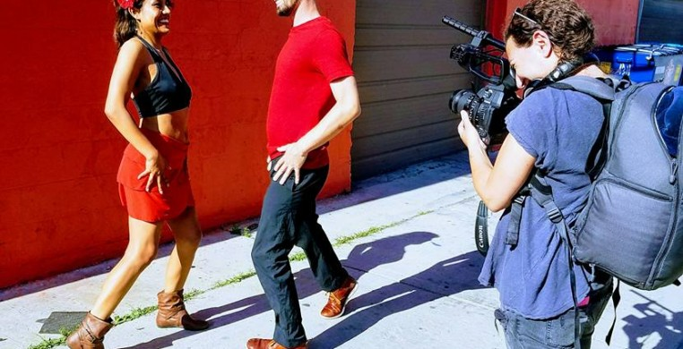 """Del Otro Lado""  dancers Christopher Knowlton and Silvita Diaz Brown, with filmmaker Alexandra Yasinovsky"