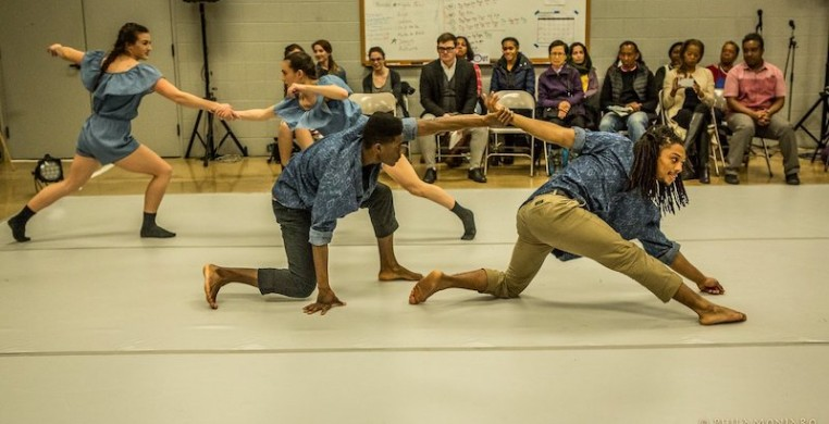 Chicago Dance Crash in collaboration with Haitian American Museum of Chicago-HAMOC for Moving Dialogs on April 3, 2018. Photo by Philamonjaro Studio.