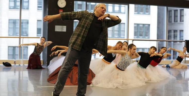 Yuri Possokhov in the studio, photo courtesy of the Joffrey Ballet