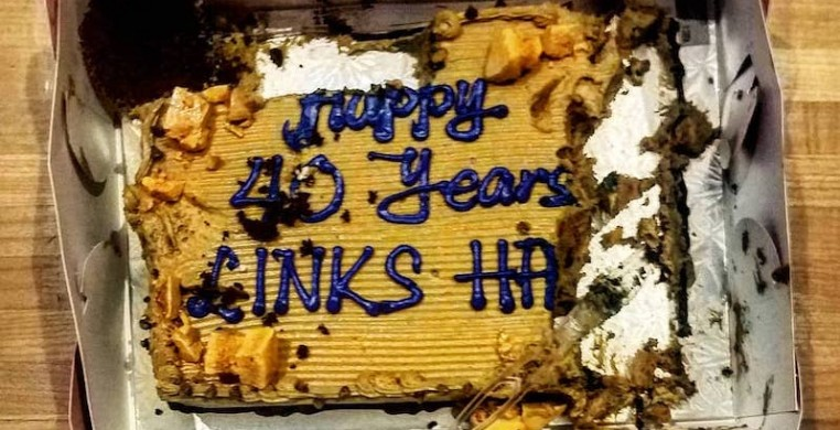 """Leftover cake from """"LinkSircus,"""" photo from Links Hall Facebook page"""