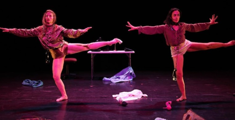 "Samantha Allen (left)  and Devika Wickremeshinghe (right) in ""Saluti, Grace Palmer,"" photo courtesy of the artists"