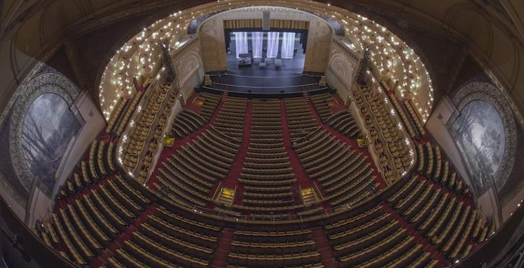 The Auditorium Theatre has gone without performances since March 12, when Gov. J.B. Pritzker limited public gathering to fewer than 1,000 people. Photo courtesy of John Boehm and the Auditorium Theatre