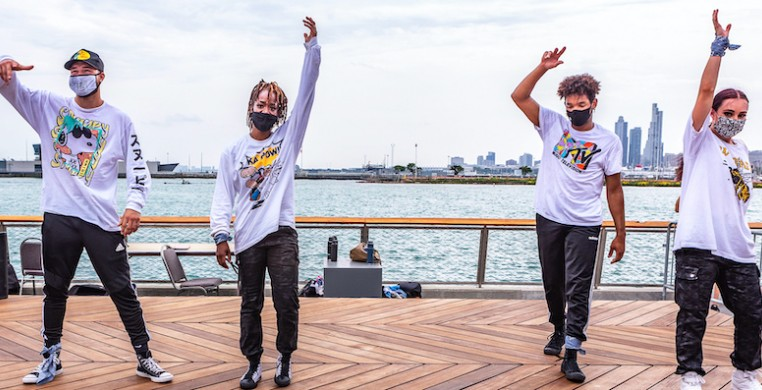 Chicago Dance Crash performing at Navy Pier, one of few public performances after the pandemic brought dance to a halt. The company created a documentary film about how COVID-19 changed everything.