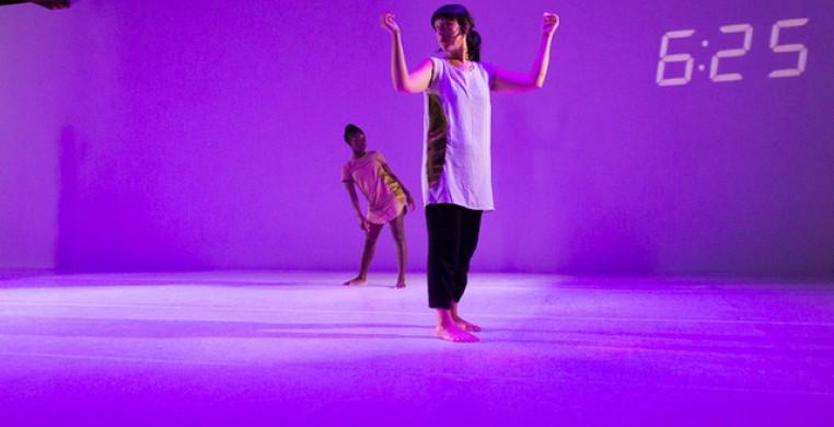 Danielle Ross (L) and Oluyinka Akinjiola. Ross will perform live as part of the 2021 Pivot Arts Festival. (handout/photo by Chelsea Petrakis, courtesy Pivot Arts)