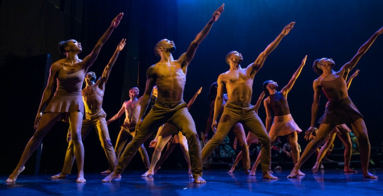 """Deeply Rooted Dancers in """"Goshen."""" The gospel and dance production will preview Aug. 25 at Jay Pritzker Pavilion in Millennium Park. Photo by Ken Carl"""
