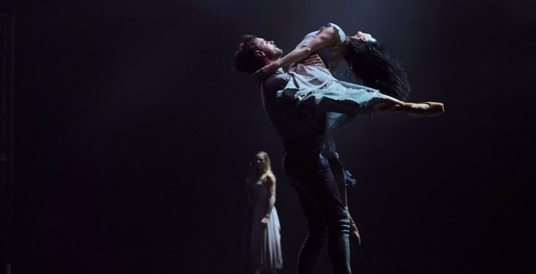 "English National Ballet artistic director Tamara Rojo with James Streeter in Akram Khan's ""Giselle,"" photo by Laurent Liotardo"