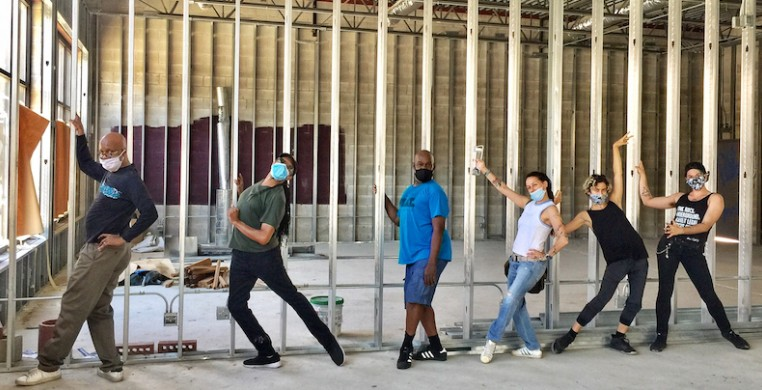 The Joel Hall Dancers socially distanced in their new Albany Park home, predicted to open later this fall. (photo courtesy of Joel Hall Dancers & Center)