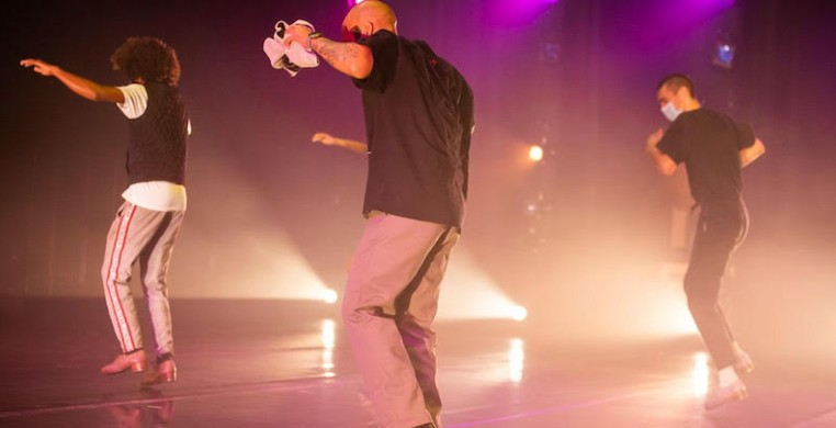 """Jumaane Taylor, seen here performing in his newest work """"Ugly Flavors"""" at the Dance Center of Columbia College, will direct the 30th edition of Rhythm World. Photo: Kristie Kahns"""