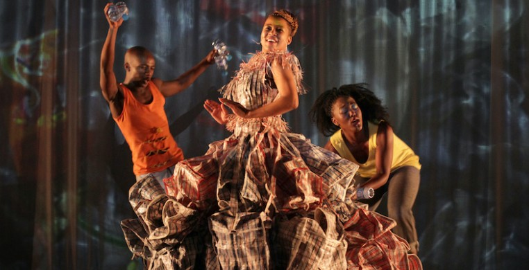 """Johannesburg, SA company Moving into Dance Mophatong performs Robyn Orlin's work """"Beauty remained for a moment and then returned gently to her starting position"""" (shown above) as part of the digital JOMBA! festival. Photo courtesy of the artist."""