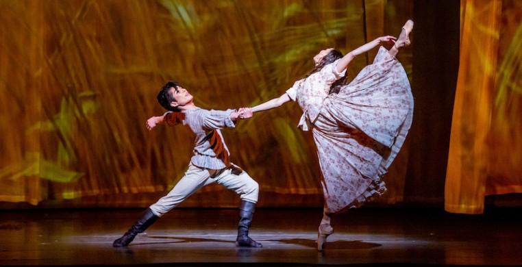 "Yoshihisa Arai and Anais Bueno in the Joffrey Ballet's ""Anna Karenina."" Photo by Cheryl Mann"