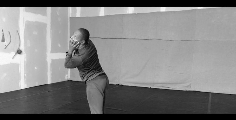 """A screenshot from Vincent Mantsoe's """"Cut,"""" created by the South African choreographer at his studio in France during quarantine. JOMBA! Contemporary Dance Experience commissioned for dance films for the 22nd annual festival."""