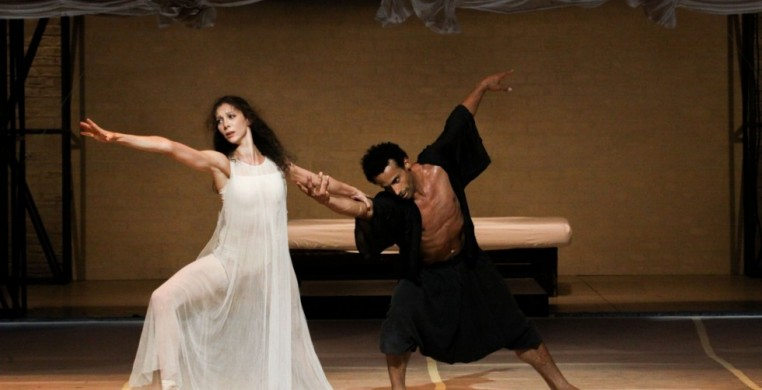 "Hélène Bouchet and Amilcar Moret Gonzalez in Hamburg Ballet's ""Othello"""