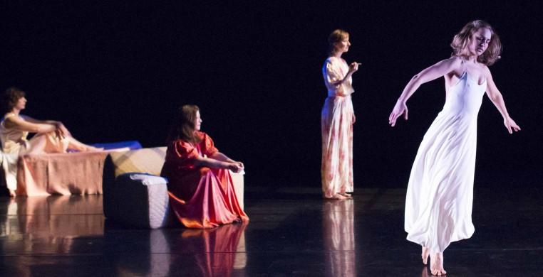 "Chicago Moving Company, ""Windows"".  Dancer:  Karla Beltchenko,  Betty Castella Kass, Nancy Meeter Owens, Eileen Sheehan.  Photo:  W. Frederking"