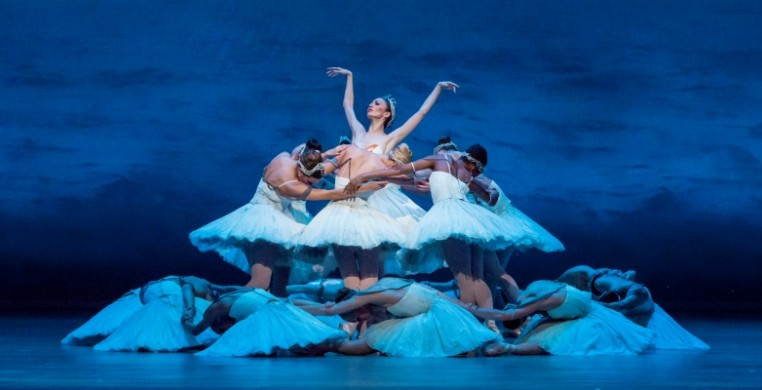 Joffrey dancer Victoria Jaiani in Christopher Wheeldon's Swan Lake, Photo by Cheryl Mann