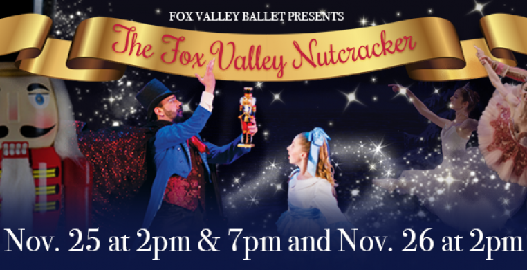 The Fox Valley Ballet is proud to present The Nutcracker, a Fox Valley holiday tradition that showcases students and families from local dance studios alongside professional dancers, in the beloved holiday classic ballet.