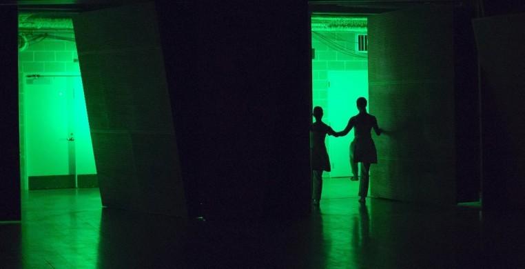 green exit