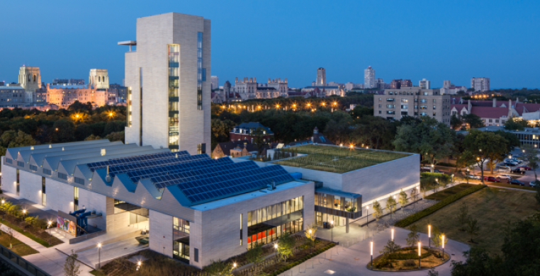 Located at 60th Street and Drexel Avenue, the Logan Center offers and array of arts programming, resources, breathtaking views of UChicago and the city.