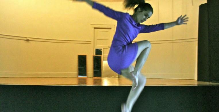 Hamlin Park Theater proscenium.  Dancer: Precious Jennings.  Photo:  Jessie Young