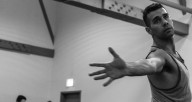 Dancer Fernando Rodriguez in rehearsal