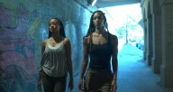 Hubbard Street Dancer Alysia Johnson and artist Rena Butler in A Tale of Two by Rena Butler. Screenshot by director Talia Koylass