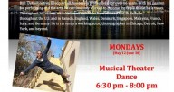 Monday 630 musical theater class and 8pm hip hop class with Breon Arzell