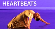 Posed dancer with the text 'Spectral Heartbeats' above