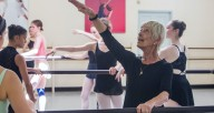 Birute Barodicaite teaching ballet class at RPCA