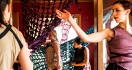 Synapse Arts dancers in the historic Gunder House - photo by Matthew Gregory Hollis