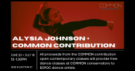 Alysia Johnson + COMMON contribution