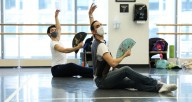 "Pablo Sanchez rehearses his work ""¡Viva!"" at Joffrey Tower. Photo courtesy Joffrey Ballet."