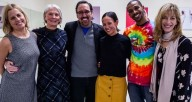 From left, Colleen Flanigan, Pam Crutchfield, Jorge Perez, Robyn Mineko Williams, Osnel Delgado and Heather Hartley. Photo by Philamonjaro