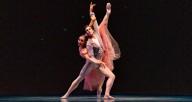 "Joffrey dancers Amanda Assucena and Alberto Velazquez in Gerald Arpino's ""Birthday Variations."" Photo by Cheryl Mann"