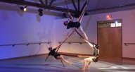 """A scene from """"Electric Current,"""" one of the new pieces that is part of Aerial Dance Chicago's concert, """"Searchlight."""" The event runs Friday and Saturday in Old Irving Park and online. Photo courtesy of ADC."""