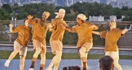 Chicago Dance Crash performing on the rooftop of Lakeshore Sport & Fitness (Handout)