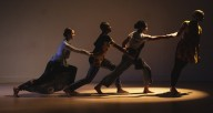 Company dancers from Winifred Haun & Dancers performing at Links Hall. Photo: Matthew Gregory Holllis