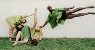 Playing in the grass: The Seldoms premiere their newest work about lawns and Mary Jane Thursday at the Dance Center. Photo by Andrew Glatt