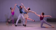 "From left, Ballet 5:8 dancers Libby Dennen, Samuel Opsal, Lezlie Gray and Lorianne Robertson in ""Reckless"" (photo courtesy Ballet 5:8)"