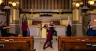 Winifred Haun and Dancers at Unity Temple. Photo by Matthew Gregory Hollis