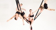 "Aerial Dance Chicago and Elements Ballet in ""AYA"""